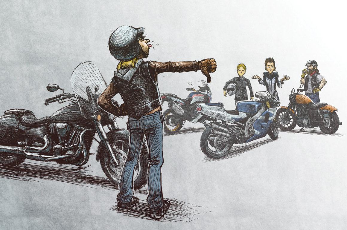 Não curto a sua moto! (Ou, como NÃO apreciar o Motociclismo)